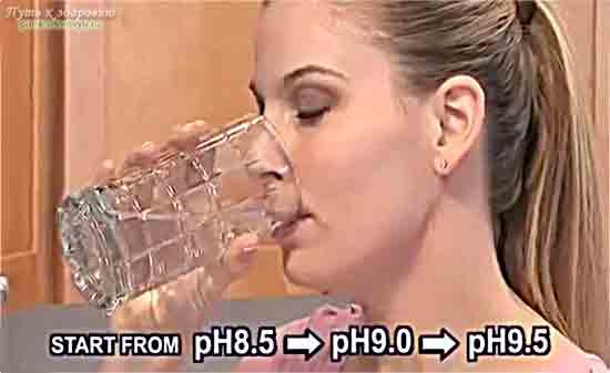 Пейте щелочную воду!