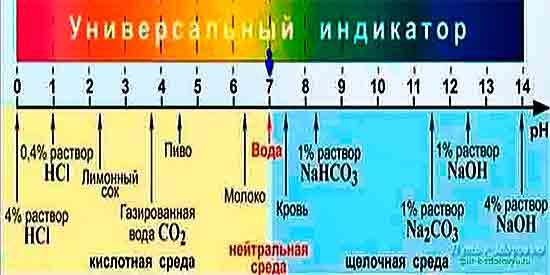 pH водных растворов
