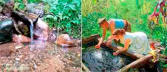 Живая вода поглощает энергию из земли