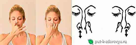 Дыхание одной левой или одной правой ноздрёй