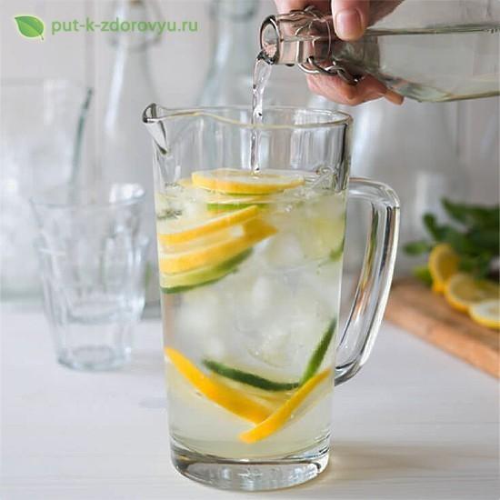 Как сделать воду с лимоном?