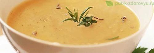 Картофельный суп с маслом «Oleolux». Рецепт приготовления.