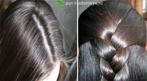 Маска для волос с глицерином и льняным маслом против секущихся кончиков и для блеска.