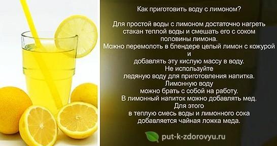 Как приготовить воду с лимоном?