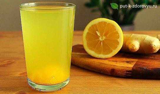 Рецепт лимонной воды с имбирём