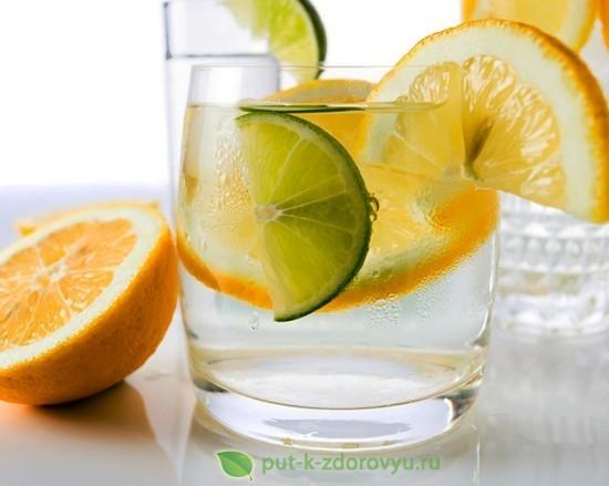 Рецепт лимонной воды с лаймом