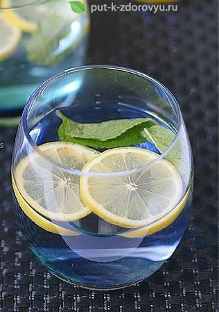 Рецепт лимонной воды с мятой