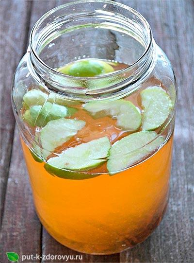 Вода для похудения с яблоком и корицей.