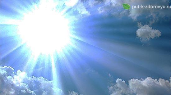 Защита солнцем.