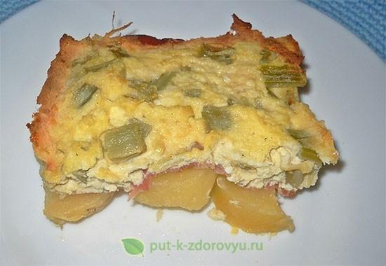 Картофель с расторопшей (в микроволновой печи).