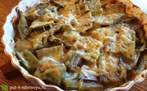 Рецепт с расторопшей и сыром.