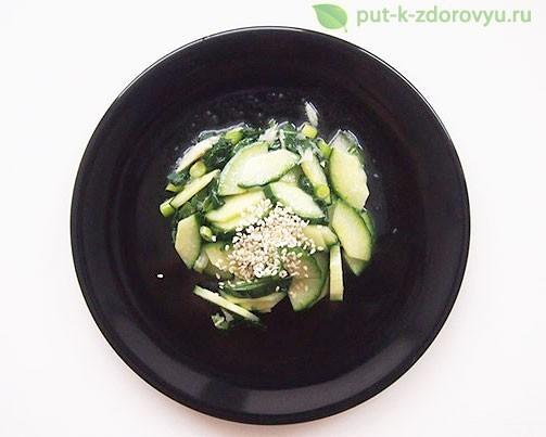 Восточный салат из листьев расторопши.