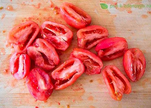 Брускетта с помидорами и базиликом. Метод приготовления 1