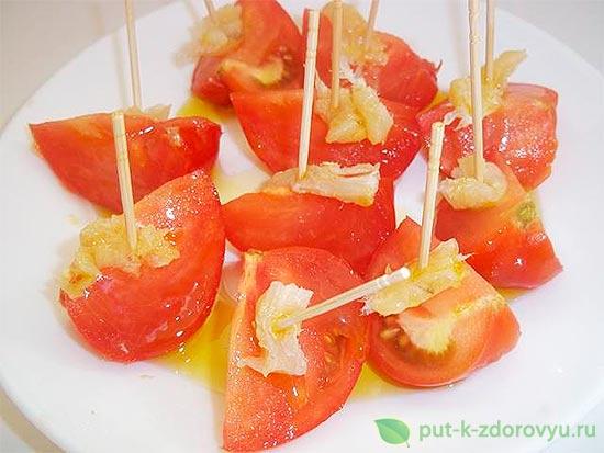 Закуски из помидор.Испанская томатная закуска.