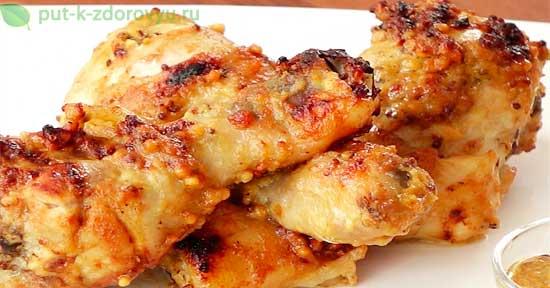 Вкусные и ароматные куриные ножки в медово-горчичном соусе. Лизать пальцы!