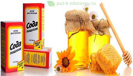 Рецепт от гайморита с мёдом, растительным маслицем и содой.