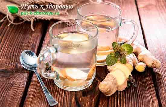 Имбирный чай от простуды.