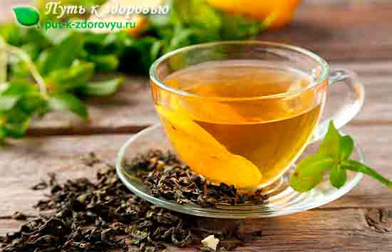 Зелёный чай от простуды.