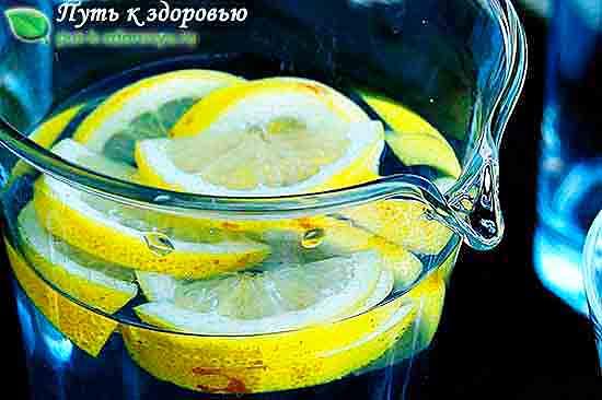 Вода с лимонами.