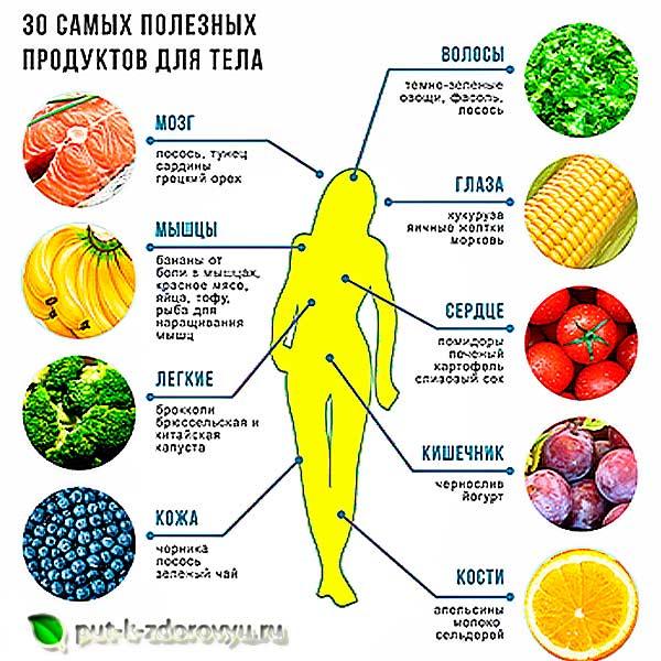 Продукты полезные для тела