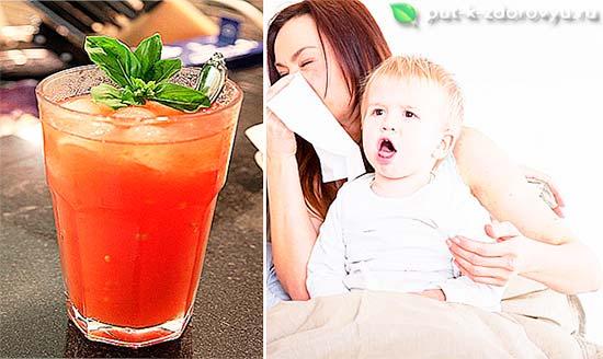 Томатный сок повышает иммунитет.