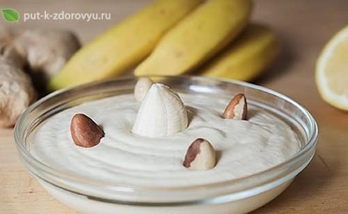 Рецепт бананово-имбирного крема.