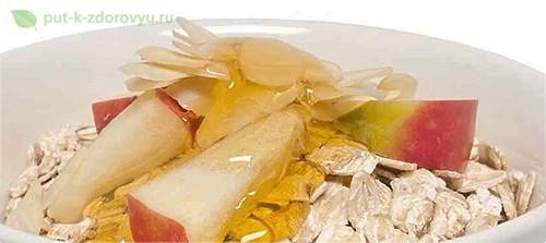 ецепт яблочно-бананового йогуртас овсяной мукой.