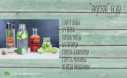Вкусная вода. Рецепты воды для здоровой кожи и омоложения.