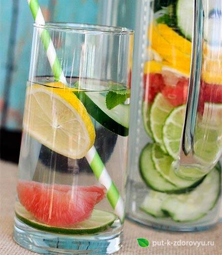 Цитрусовая вода для похудения.