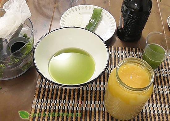 Рецепт с алоэ, вином и мёдом-3
