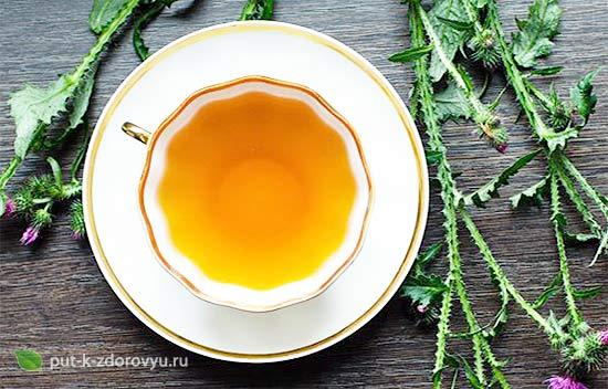 Чай с расторопшей. Польза для здоровья.