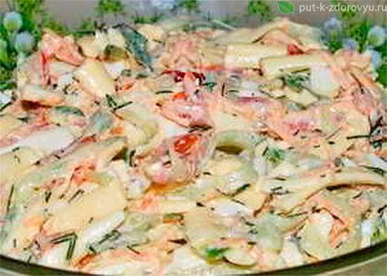 Рецепты с печенью трески, яйцами, маринованными огурцами и овощами.