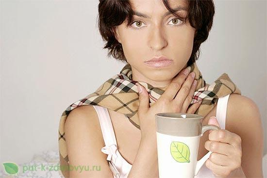 Чайная сода лечит ангину. Полоскание горла.