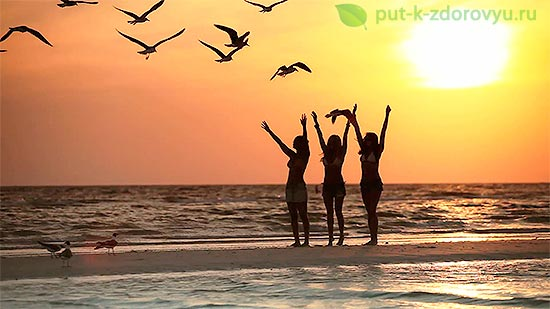 Физическое влияние Солнца на здоровье.