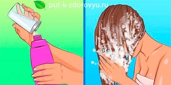 Сода для волос.Маска с шампунем.