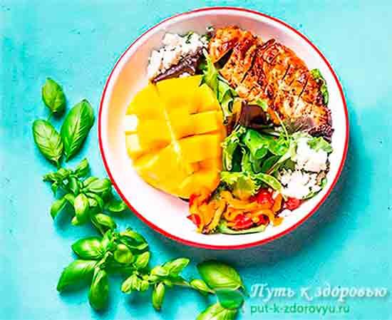 Органические или натуральные продукты питания.
