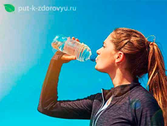 Пейте воду тогда, когда хотите пить
