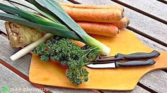 Ингредиенты для растительной пасты.